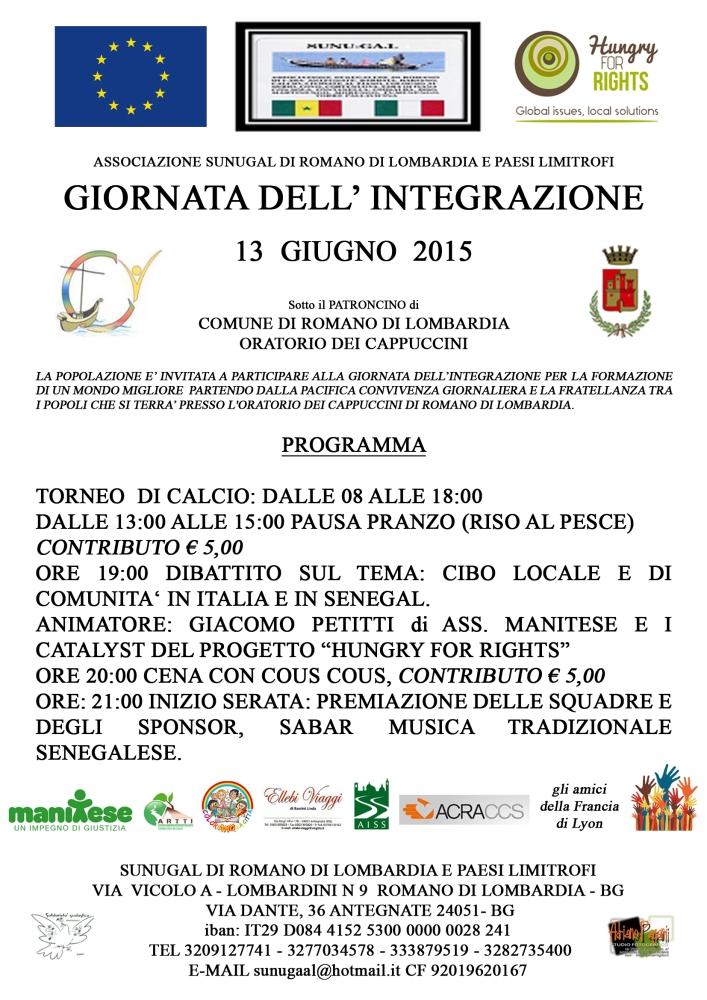 Giornata dell'integrazione : 13 giugno 2015